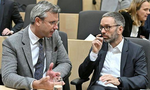 Parteichef Hofer und Klubobmann Kickl