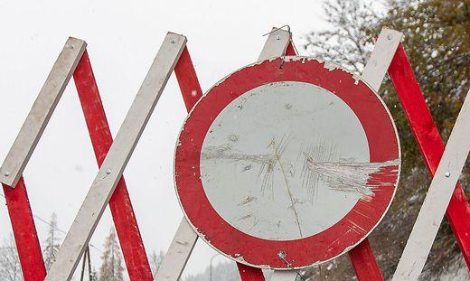 Straßensperre in Bad Kleinkirchheim und Radenthein