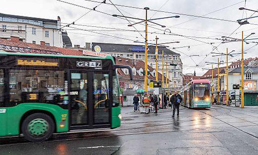 """Auch bei den Graz-Linien tritt am 23. November der """"Ferienfahrplan"""" in Kraft"""