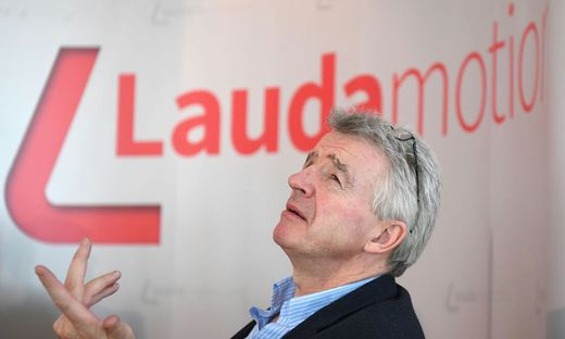 Ryanair-Chef Michael O'Leary will auch bei Lauda (vormals Laudamotion) kürzen