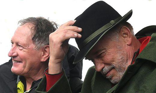 Franz Klammer und Arnold Schwarzenegger