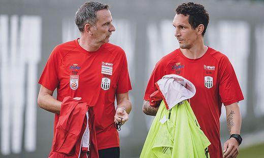 Dominik Thalhammer (links) und sein neuer Assistent Emanuel Pogatetz