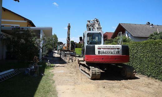 Eine der Baustellen in Hörtendorf