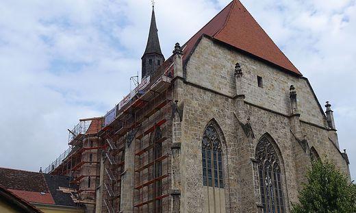 Die Arbeiten an der Südseite des Münsters haben bereits begonnen