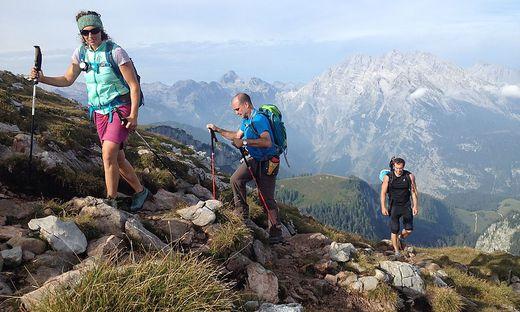Nina Schlesener erwandert mit Gästen das Berchtesgadener Land: Im Hintergrund der berühmte Watzmann