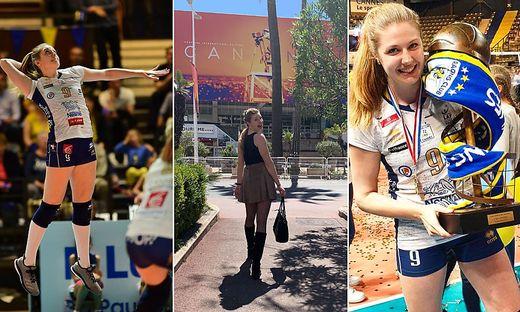 Holzer strahlt mit dem Pokal um die Wette. In Cannes flaniert sie gern an der Strandpromenade.
