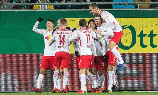 Salzburg jubelt: 3:2 gegen Rapid