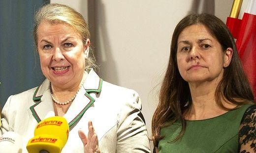 Ganz und gar nicht auf einer Linie: FPÖ-Sozialministerin Beate Hartinger-Klein und SPÖ-Soziallandesrätin Doris Kampus