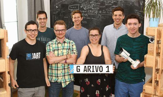 Das Team von Arivo um Dominik Wieser (2. von rechts)
