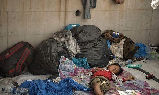 Flüchtlingskinder in Lesbos
