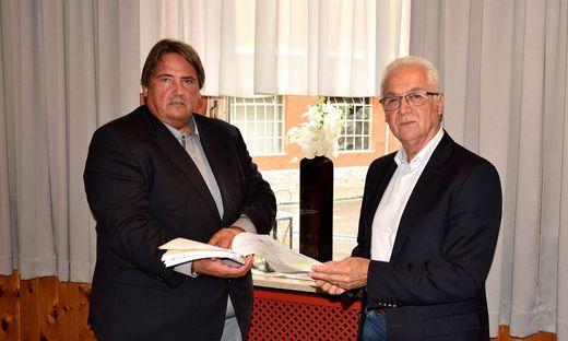 Parteiobmann Josef Muchitsch und Bürgermeister Helmut Leitenberger bezogen Stellung