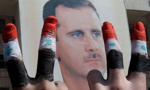 Staatschef Assad konnte sich an der Macht halten