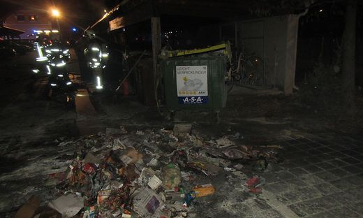 Müllinselbrand in Graz
