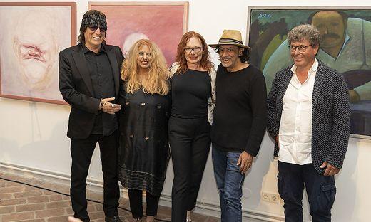 G. Helnwein, Marietta Deix, Renate Helnwein, Mario Berger, Harald Scheicher (v. l.)