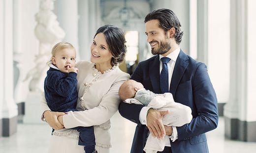 Kungliga slottet, September 2017  Prins Carl Philip, Prinsessan Sofia, Prins Alexander och Prins Gabriel