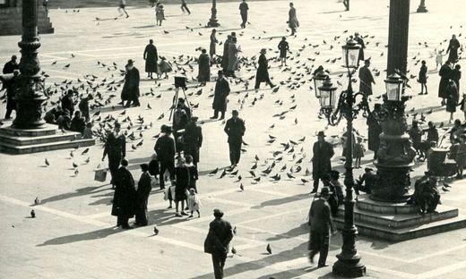Der Markusplatz zu Beginn des 20. Jahrhunderts