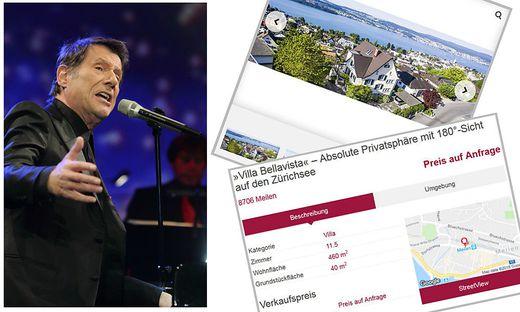 Die Villa des verstorbenen Sängers Udo Jürgens (hier bei einem Konzert im Jahr 2009) steht jetzt zum Verkauf