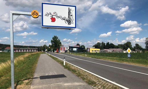 Lebenslustzeichen Ortstafeln Route 66