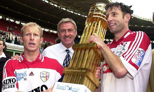 Der FC Kärnten holt sich 2001 den Sieg im ÖFB-Cup