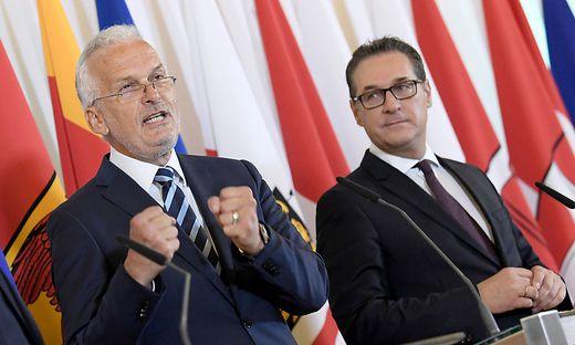 Strache verbreitet Kritik an VP-Minister Moser im Internet