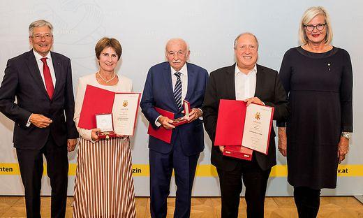 LH Peter Kaiser zeichnete Antonia Gössinger, Horst Berger, Rolf Holub und Ursula Plassnik aus