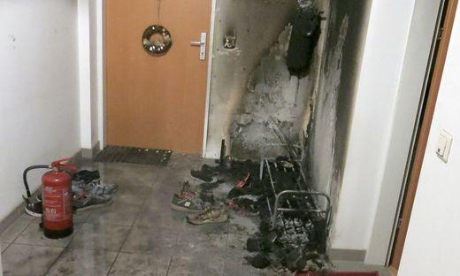 Feuerwehreinsatz wegen brennenden Schuhregals im Südburgenland