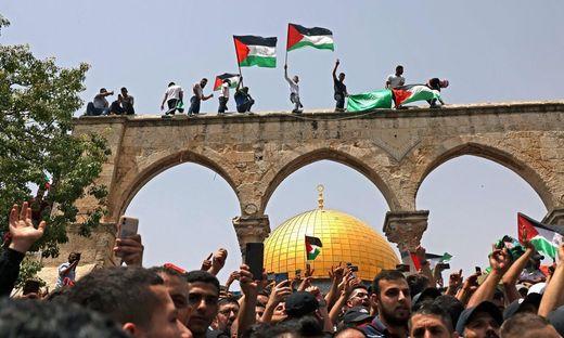 Freude in bei Palästinensern in Jerusalem