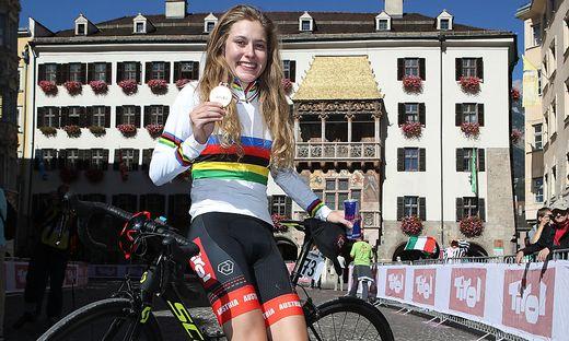 Gold vorm Goldenen Dachl: Laura Stigger überraschte in Innsbruck alle