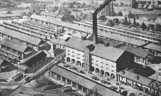 Eustacchios großes Ziegelwerk in Waltendorf/St. Peter um 1910