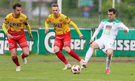 Bad Radkersburg (links: Marko Drevensek, Mitte: Andrej Dugolin) konnte das Budget für die Landesliga nicht aufstellen