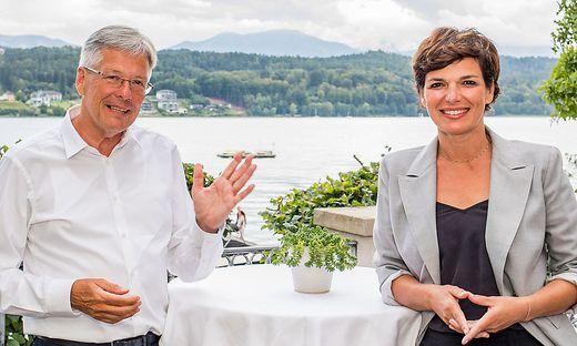 Kärntens SP-Obmann Peter Kaiser mit Bundesparteichefin Pamela Rendi-Wagner