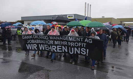 Protestaktion bei Secop