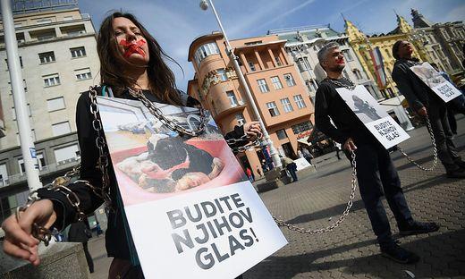 Welttierschutztag: Demonstration in Zagreb für den Schutz von Nutztieren