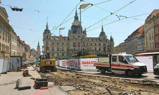 Graz Hautplatz Baustelle