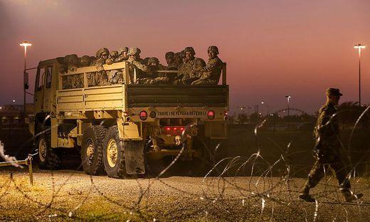 Grenzpolizei an der US-mexikanische Grenze