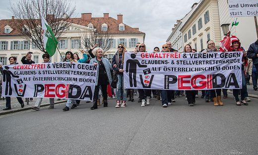 Am Samstag marschiert Pegida in Graz-Andritz. Die Identitären haben Judenburg im Visier