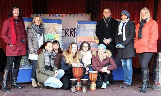 Das Team von PH und AAU beschallte den Neuen Platz in Klagenfurt