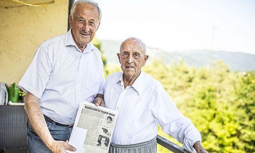 Zwei Exekutivbeamte der alten Schule tauschten Erinnerungen aus: Johann Koitz (rechts) und Rudolf Schober