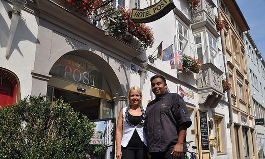 Hoteldirektorin Birgit Gschwenter und Küchenchef Günther Steiner verlassen den Betrieb