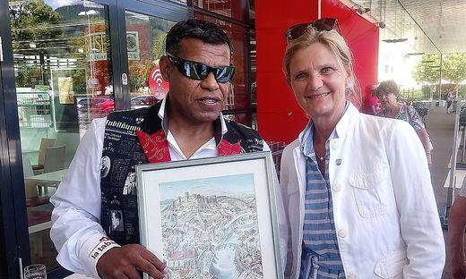 Vizebürgermeisterin Susanne Kaltenegger begrüßte Amilton de Oliveira in Bruck