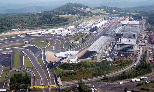 Eine Luftaufnahme des Nürburgrings