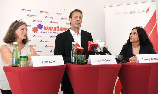 Spitzentrio der KPÖ: Elke Kahr, Ivo Hajnal und Zeynep Arslan