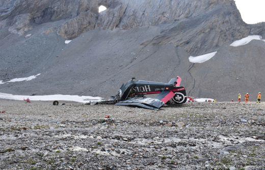 Flugzeug am Piz Segnas in Graubünden abgestürzt