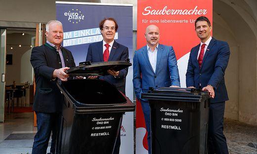 Wolfgang Neubauer/Dachverband Steirische Abfallwirtschaftsverbände, Hans Roth/Saubermacher, Arthur Primus/Europlast, Ralf Mittermayr/Saubermacher