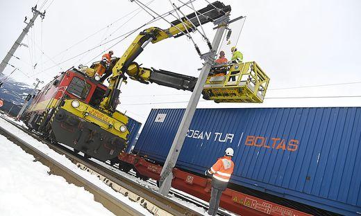 Güterzug entgleist Bahnhof Spittal