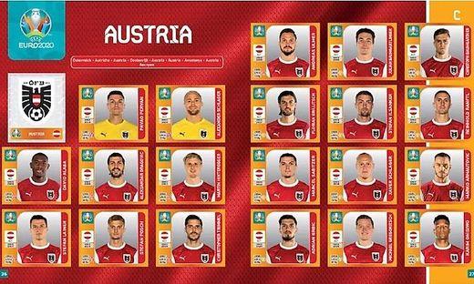Der ÖFB-Kader für die EM 2021, zumindest wenn es nach Panini geht