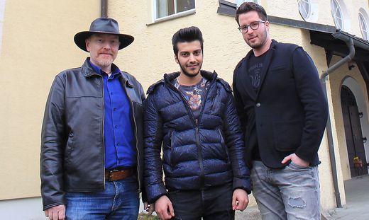 Dietmar Böhmer, Benfeqar Al Khanaf und Christian Veit (von links)