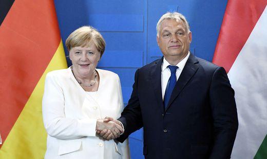 Angela Merkel und Viktor Orban