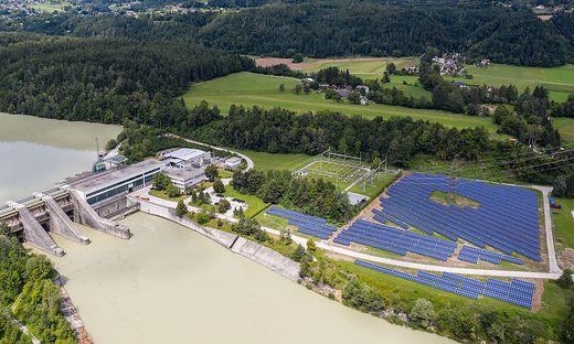 Gelungenes Beispiel Verbund-Photovoltaikwerk am Umspannwerk des DRaukraftwerkes in Ludmannsdorf in Kärnten