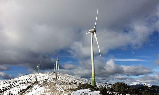 Windpark auf der Handalm